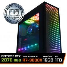 Pc Gamer T-Power Destroyer Lvl-3 AMD Ryzen 7 3800X / Geforce RTX 2070 8GB / DDR4 16GB / HD 1TB / 600W / RZ3