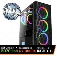 Pc Gamer T-Power Destroyer Lvl-3 AMD Ryzen 7 3800X / Geforce RTX 2070 8GB / DDR4 16GB / HD 1TB / 600W / RZ3