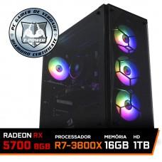 Pc Gamer T-Power Destroyer Lvl-6 AMD Ryzen 7 3800X / Radeon RX 5700 8GB / DDR4 16GB / HD 1TB / 600W
