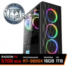 Pc Gamer T-Power Destroyer Lvl-6 AMD Ryzen 7 3800X / Radeon RX 5700 8GB / DDR4 16GB / HD 1TB / 600W