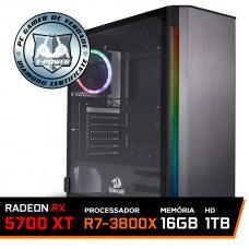 Pc Gamer T-Power Destroyer Lvl-7 AMD Ryzen 7 3800X / Radeon NAVI RX 5700 XT 8GB / DDR4 16GB / HD 1TB / 750W
