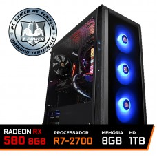 Pc Gamer T-power Edition Amd Ryzen 7 2700 / Rx 580 8Gb / DDR4 8Gb / Hd 1Tb / 600W
