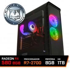Pc Gamer T-Power Edition Amd Ryzen 7 2700 / Rx 580 8Gb / DDR4 8Gb / Hd 1Tb / 600W