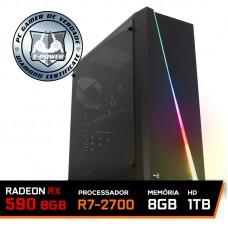 Pc Gamer T-power Edition Amd Ryzen 7 2700 / Rx 590 8gb / DDR4 8GB / Hd 1tb / 600W