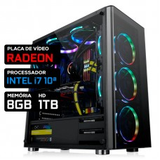 Pc Gamer T-Power Inferno LVL-2 Intel i7 10ª / AMD Radeon / DDR4 8GB / HD 1TB