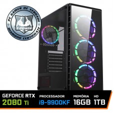 Pc Gamer T-Power Inferno Lvl-4 Intel I9 9900kF 3.60GHz / Geforce RTX 2080 Ti 11GB / DDR4 16GB / HD 1TB / 700W
