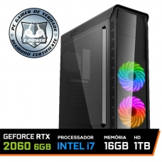 PC Gamer T-Power Insane LVL-1 Intel I7 8700k / Geforce RTX 2060 6GB / DDR4 16GB / HD 1TB / 600W