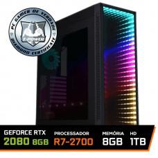 Pc Gamer T-Power Edition Amd Ryzen 7 2700 / Geforce RTX 2080 8GB / DDR4 8GB / Hd 1tb / 750W