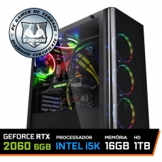 Pc Gamer T-Power Maximus Lvl-1 Intel i5 9600K / GeForce RTX 2060 6GB / DDR4 16GB / HD 1TB / 600W