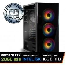 Pc Gamer T-Power Maximus Lvl-1 Intel i5 9600K / GeForce RTX 2060 6GB / DDR4 16GB / HD 1TB / 600W
