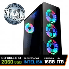 Pc Gamer T-Power Maximus Lvl-1 Intel i5 9600KF / GeForce RTX 2060 6GB / DDR4 16GB / HD 1TB / 600W
