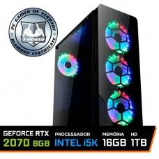Pc Gamer T-Power Maximus Lvl-2 Intel i5 9600KF / Geforce RTX 2070 Super 8GB / DDR4 16GB / HD 1TB / 600W