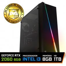 Pc Gamer T-Rival Lvl-8 Intel Core i3 10100 / GeForce RTX 2060 6GB / DDR4 8GB / HD 1TB / 600W