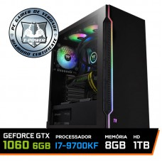 Pc Gamer T-power Special Edition Intel I7 9700KF 3.60GHz / Geforce GTX 1060 6GB / DDR4 8GB / HD 1TB / 600W