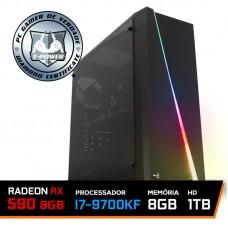 Pc Gamer T-power Special Edition Intel I7 9700kf 3.60GHz / Radeon RX 590 8Gb / DDR4 8Gb / Hd 1Tb / 600W