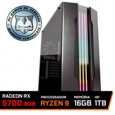 Pc Gamer T-Power Stormbreaker Lvl-1 AMD Ryzen 9 3900X / Radeon RX 5700 8GB / DDR4 16GB / HD 1TB / 700W