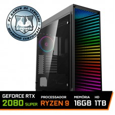 Pc Gamer T-Power Stormbreaker Lvl-5 AMD Ryzen 9 3900X / Geforce RTX 2080 Super / DDR4 16GB / HD 1TB / 700W