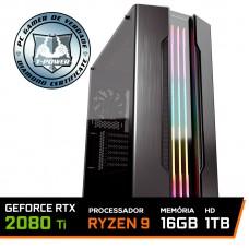 Pc Gamer T-Power Stormbreaker Lvl-6 AMD Ryzen 9 3900X / Geforce RTX 2080 Ti / DDR4 16GB / HD 1TB / 700W