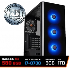 Pc Gamer T-power Super Colonel Lvl-4 Intel I7 8700 / Rx 580 8gb / DDR4 8Gb / Hd 1tb / 600W