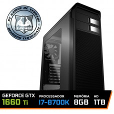 PC Gamer T-Power Super Edition Intel I7 8700K / Geforce GTX 1660 Ti 6GB / DDR4 8GB / HD 1TB / 600W