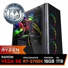 Pc Gamer T-Power Super Warlord Lvl-1 AMD Ryzen 7 3700X / Radeon Vega 56 8GB / DDR4 16GB / HD 1TB / 600W / RZ3