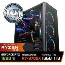 Pc Gamer T-Power Super Warlord Lvl-2 AMD Ryzen 7 3700X / Geforce GTX 1660 Ti 6GB / DDR4 16GB / HD 1TB / 600W / RZ3