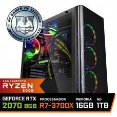 Pc Gamer T-Power Super Warlord Lvl-4 AMD Ryzen 7 3700X / Geforce RTX 2070 8GB / DDR4 16GB / HD 1TB / 600W / RZ3