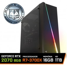 Pc Gamer T-Power Super Warlord Lvl-4 AMD Ryzen 7 3700X / Geforce RTX 2070 8GB / DDR4 16GB / HD 1TB / 600W / RZ3