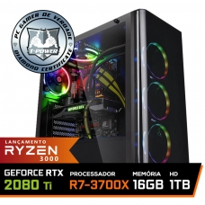 Pc Gamer T-Power Super Warlord Lvl-6 AMD Ryzen 7 3700X / Geforce RTX 2080 Ti / DDR4 16GB / HD 1TB / 700W / RZ3