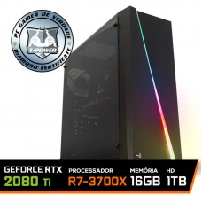 Pc Gamer T-Power Super Warlord Lvl-6 AMD Ryzen 7 3700X / Geforce RTX 2080 Ti / DDR4 16GB / HD 1TB / 700W