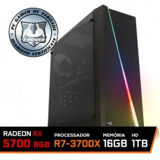 Pc Gamer T-Power Super Warlord Lvl-7 AMD Ryzen 7 3700X / Radeon NAVI RX 5700 8GB / DDR4 16GB / HD 1TB / 600W / RZ3