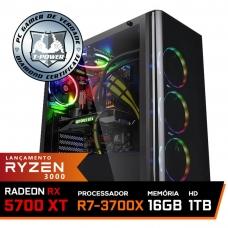 Pc Gamer T-Power Super Warlord Lvl-8 AMD Ryzen 7 3700X / Radeon NAVI RX 5700 XT 8GB / DDR4 16GB / HD 1TB / 600W / RZ3