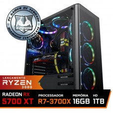 Pc Gamer T-Power Super Warlord Lvl-8 AMD Ryzen 7 3700X / Radeon NAVI RX 5700 XT 8GB / DDR4 16GB / HD 1TB / 600W / RZ3