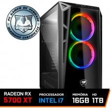 PC Gamer T-Power Captain Lvl-3 Intel I7 9700K 3.60GHz / Radeon RX 5700 XT 8GB / 16GB DDR4 / HD 1TB / 600W