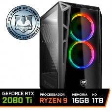 Pc Gamer T-Power Ultra LVL-2 AMD Ryzen 9 3950x / Geforce RTX 2080 Ti / DDR4 16GB / HD 1TB / 750W