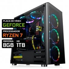 Pc Gamer T-Power Warlord Lvl-1 AMD Ryzen 7 / Nvidia GeForce / DDR4 8GB / HD 1TB