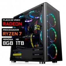 Pc Gamer T-Power Warlord Lvl-2 AMD Ryzen 7 / AMD Radeon / DDR4 8GB / HD 1TB