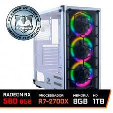 Pc Gamer T-Power Edition AMD Ryzen 7 2700x / Radeon Rx 580 8GB / DDR4 8GB / HD 1TB / 600W