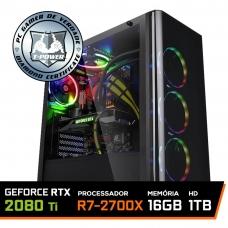 Pc Gamer T-Power Warlord Lvl-4 AMD Ryzen 7 2700X / Geforce RTX 2080 Ti 11GB / DDR4 16GB / HD 1TB / 650W