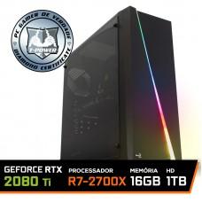 Pc Gamer T-Power Warlord Lvl-4 AMD Ryzen 7 2700X / Geforce RTX 2080 Ti 11GB / DDR4 16GB / HD 1TB / 700W