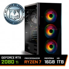 Pc Gamer T-Power Warlord Lvl-6 AMD Ryzen 7 3700X / GeForce RTX 2080 Ti / DDR4 16GB / HD 1TB / 600W