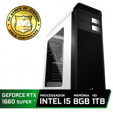 Pc Gamer T-soldier Lvl-3 Intel Core i5 9400F / GeForce GTX 1660 Super 6GB / DDR4 8GB / HD 1TB / 500W