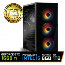 Pc Gamer T-soldier Lvl-3 Intel Core i5 9400F / GeForce GTX 1660 Ti 6GB / DDR4 8GB / HD 1TB / 500W