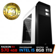 Pc Gamer T-Soldier Lvl-6 Intel Core i5 9400F / RADEON RX 570 4GB / DDR4 8GB / HD 1TB / 500w
