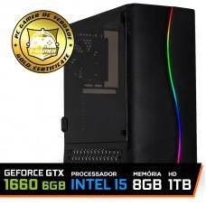 Pc Gamer T-soldier Lvl-2 Intel Core i5 9400F / GeForce GTX 1660 6GB / DDR4 8GB / HD 1TB / 500W