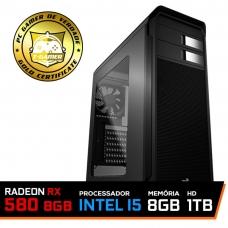 Pc Gamer T-Soldier Lvl-6 Intel Core i5 9400F / RADEON RX 580 8GB / DDR4 8GB / HD 1TB / 600W