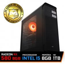 Pc Gamer T-Soldier Lvl-7 Intel Core i5 9400F / RADEON RX 580 8GB / DDR4 8GB / HD 1TB / 500W