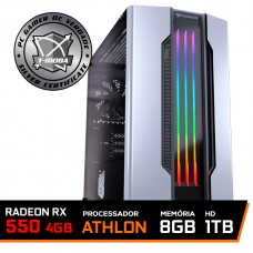 Pc Gamer Tera Edition AMD Athlon 3000G / Radeon Rx 550 4GB / DDR4 8GB / HD 1TB / 500W