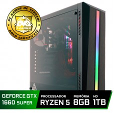 Pc Gamer Tera Edition Amd Ryzen 5 2600 / GeForce GTX 1660 Super 6GB / DDR4 8Gb / HD 1TB / 500W
