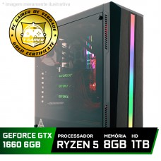Pc Gamer Tera Edition Amd Ryzen 5 2600 / GeForce GTX 1660 6GB / DDR4 8GB / HD 1TB / 500W